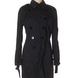 Kenneth Cole Black Trench Coat XS
